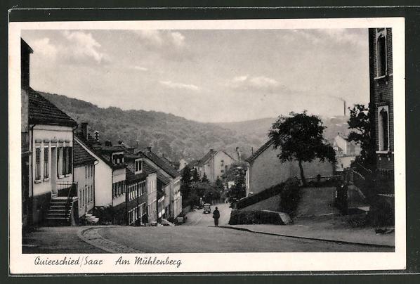 AK Quierschied, Strassenpartie am Mühlenberg