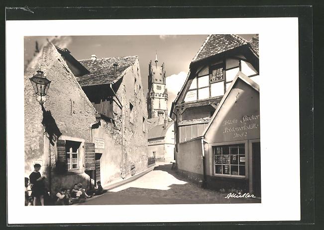 AK Freiburg, Strassenwinkel in der Altstadt