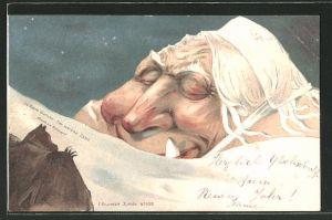 Künstler-AK Killinger Nr. 108: La Dent blanche / Der weisse Zahn, Berg mit Gesicht / Berggesichter