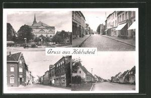AK Kohlscheid, Strassenpartie im Zentrum, Strassenpartie in einer Wohngegend