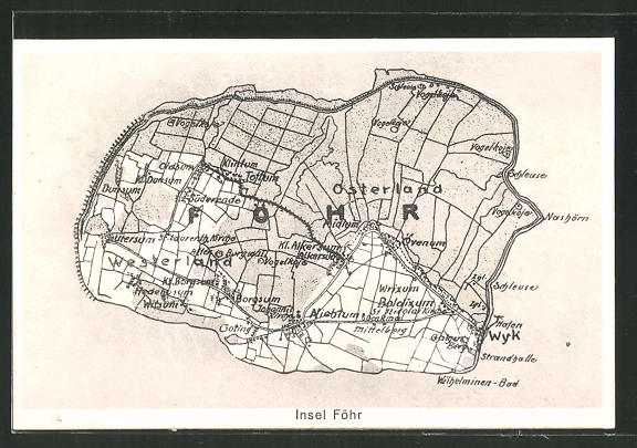 AK Wyk, Landkarte der Insel Föhr