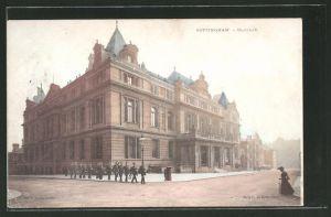 AK Nottingham, Strassenpartie an der Guildhall