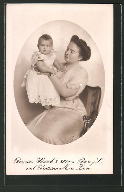 AK Prinzessin Heinrich XXXIII. von Reuss mit Prinzessin Marie Luise