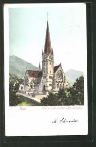 AK Zug, Blick auf die neue kath. Pfarrkirche