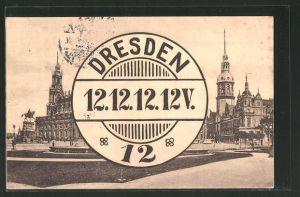 AK Poststempel Sdresden 12.12.12.12V - 12