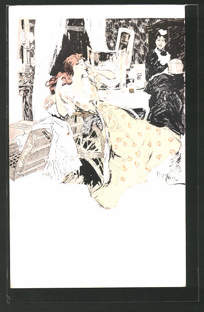 Künstler-AK Ferdinand von Reznicek: