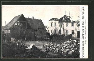 AK Sehlis, Unwetter-Katastrophe am 12.5.1912, zerstörtes Haus