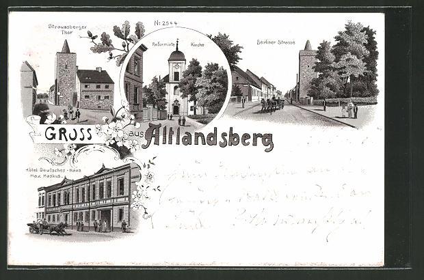 Lithographie Altlandsberg, Hotel
