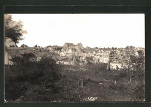AK Amifontaine, Ansicht des zerstörten Ortes