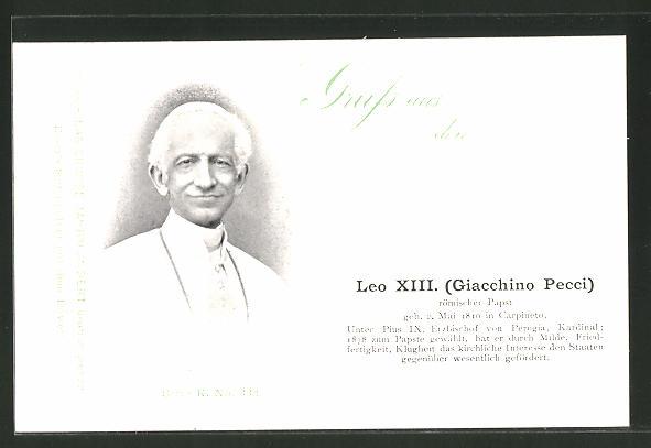 AK Porträt Papst Leo XIII.