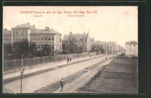 AK Kamenz, Kaserne des 13. Kgl. Sächs. Inf. Reg. No. 178