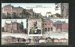 AK Kamenz, Kaserne des 13. Kgl. Sächs. Inf. Reg. No. 178, Offiziers-Kasino, Wache