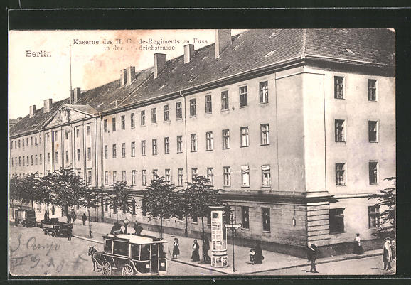 AK Berlin, Friedrichstrasse, Kaserne des II. Garde-Regiments zu Fuss