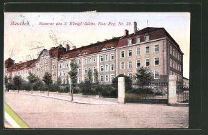AK Bautzen, Kaserne des 3. Kgl. Sächs. Hus.-Reg. Nr. 20
