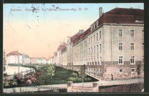 AK Bautzen, Kaserne d. Kgl. Sächs. Husaren-Reg. Nr. 20