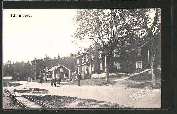 AK Limmared, Häuser an einer Strasse