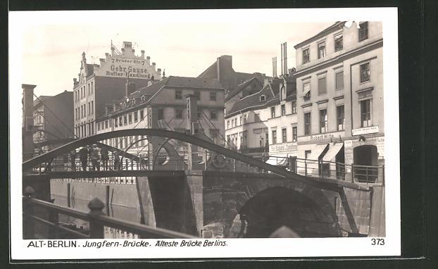 AK Berlin, Jungfernbrücke, Friedrichsgracht 0