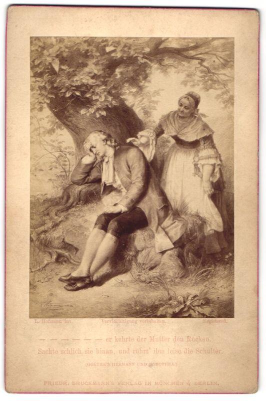 Fotografie Friedr. Bruckmann's Verlag, München, Berlin, London, Gemälde von L. Hoffmann, Er kehrte der Mutter den Rücken