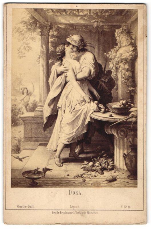 Fotografie Friedr. Bruckmann's Verlag, München, Gemälde von unbek. Künstler, Dora, Goethe-Gallerie
