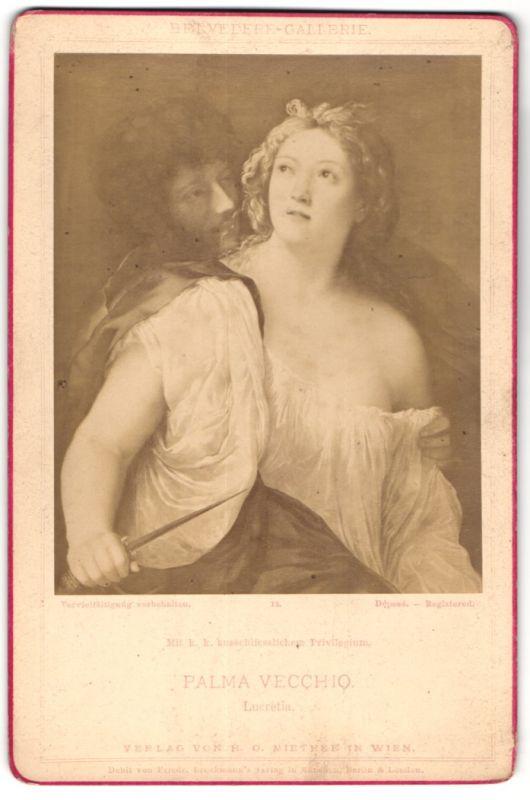 Fotografie Verlag von Miethke & Wawra, Berlin, Gemälde von Palma Vecchio, Lucretia