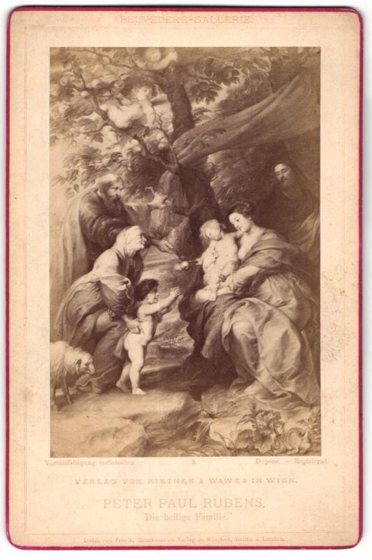 Fotografie Verlag von Miethke & Wawra, Berlin, Gemälde von Peter Paul Rubens, Die heilige Familie