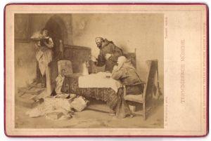 Fotografie Friedr. Bruckmann's Verlag, München, Berlin, London, Gemälde von R. Nonnenkamp, Terminierende Mönche