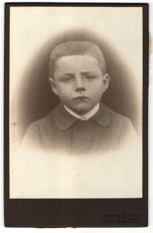 Fotografie Bernhard Stephan, Boppard, Portrait eines Knaben
