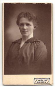 Fotografie Franz Hofer, Bad Ischl, Portrait bürgerliche Dame