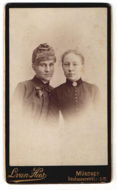 Fotografie L. van Hees, München, Portrait Mutter und Tochter