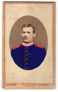 Fotografie A. Bammert, München, Portrait deutscher Garde-Soldat in Uniform