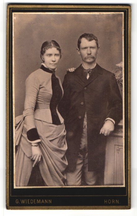 Fotografie G. Wiedemann, Horn, Portrait bürgerliches Paar