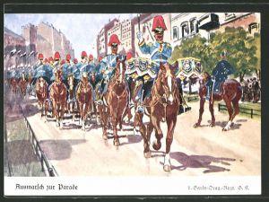 AK 1. Garde-Drag.-Regt. G.R., Ausmarsch zur Parade