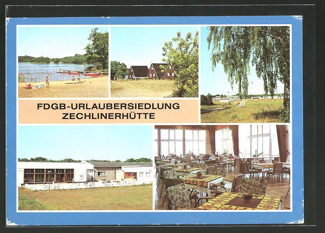 AK Zechlinerhütte, FDGB-Urlaubersiedlung Zechlinerhütte