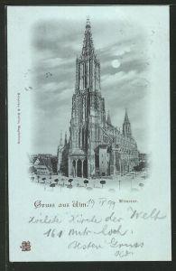 Mondschein-AK Ulm, Münster
