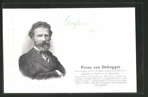 AK Serie: Das grosse Jahrhundert, Porträt von Franz von Defregger