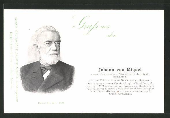 AK Serie: Das grosse Jahrhundert, Porträt von Johann von Miquel