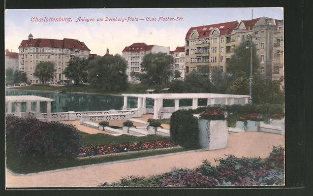 Ak Berlin Charlottenburg Anlagen Am Dernburg Platz Cuno Fischer Strasse