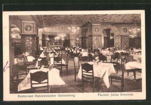 AK Berlin-Schöneberg, Restaurant Ratsweinkeller, Gastraum