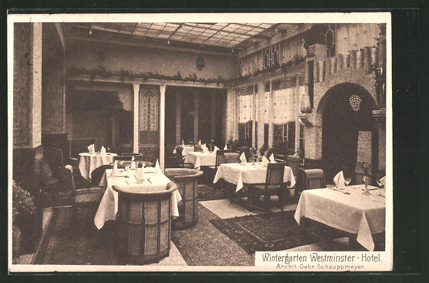 Wintergärten Köln ak köln westminster hotel blick in den wintergarten nr 7526495