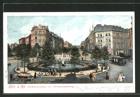 Ak Koln Neustadt Barbarossaplatz Mit Hohenstaufenring Nr 7527288