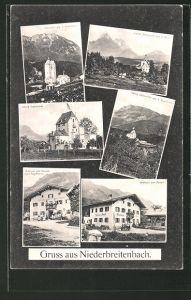 AK Niederbreitenbach, Gasthaus Zum Dampfl, Schloss Schönwörth