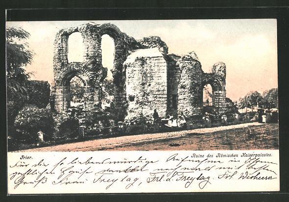 AK Trier, Ruine des römischen Kaiserpalastes