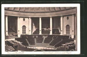 AK Hannover, Stadthalle, Kuppelsaal, Podium mit Orgel