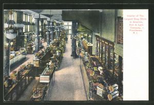 AK Providence, RI, Interior og the Largest Drug Store in AmericaHall & Lyon Company