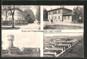 AK Lechfeld, Truppenübungsplatz Lager Lechfeld, Bahnhof