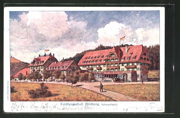 Künstler-AK Ludwig Zorn: Feldberg, Blick auf das Hotel Feldbergerhof