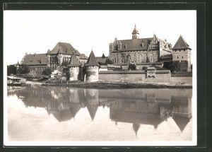 AK Marienburg / Malbork, Schloss Marienburg, Westseite