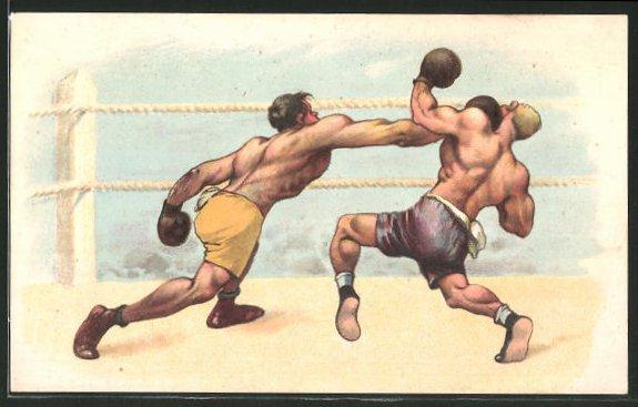 AK Boxer beim Kampf im Ring