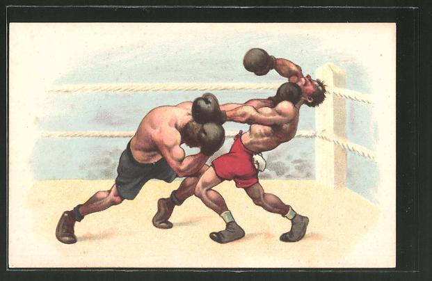 AK Boxer beim Schlagabtausch im Ring