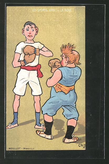 AK Boxer stehen sich im Ring gegenüber